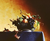 Fruit Still Life in a Silver Bowl