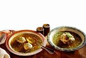 Liver Dumpling Soup & Bacon Dumpling Soup