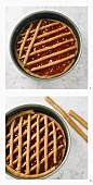 Making Linzer tart