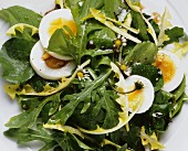 Mixed Wild Herb Salad with Eggs