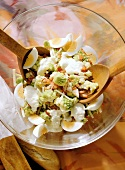 Romanesco Salad with Cheese & boiled Eggs