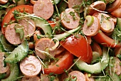 Cold Cut Salad with Turkey Sausage & Tomatoes