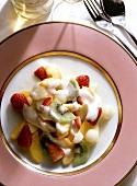 Fruit Salad with Passion Fruit Zabaione