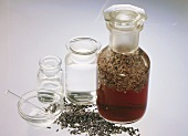 Ingredients for Lavender Vinegar