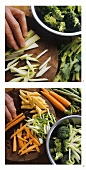 Stir-fried vegetables; preparation