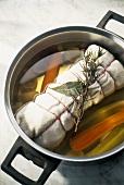 Preparing meat for vitello tonnato