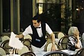 Waiter in a café in Aix au Provence