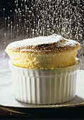 Cottage cheese soufflé in the dish