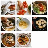 Preparing bouillabaisse