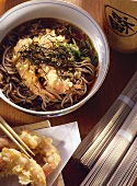 Noodles with baked Shrimp