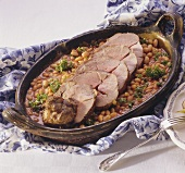 Gigot à la bretonne (leg of lamb with white beans, Bretagne)