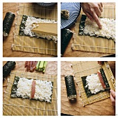 Making rolled sushi