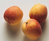 Three Fresh Apricots