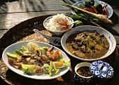 Kokoscurry mit Garnelen & Thaicurry