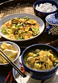 Linsencurry & Kartoffelcurry & Reis
