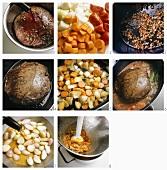 Preparing braised steak