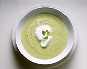 Zucchini Cream Soup with Creme Double