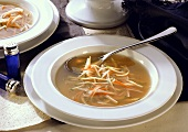 Broth with Vegetable Strips