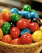Boiled & coloured eggs