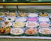 Counter with Fish Salads & Meat Salads