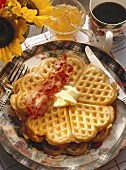 Breakfast Waffles and Coffee.