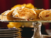 Pieces of Viennese apple strudel