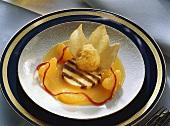 Tangerine Sherbet with Tangerine Mousse