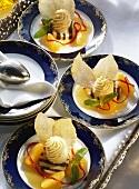 Tangerine Sorbet & Tangerine Mousse
