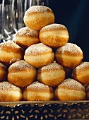 Jelly Donuts with Powdered Sugar