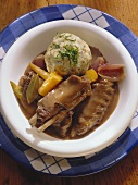 Goose Giblets with Bread Dumplings & Carrots