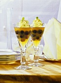Lime Tea Jelly with Grapes