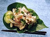 Thai squid salad and onions