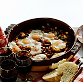 Huevos a la flamenco (eggs with vegetables, Andalucia, Spain)