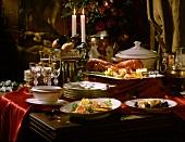 Buffet mit Hummer; Wildlachs & flambierten Crepes