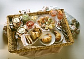 Sumptuous Breakfast for Two on Wicker Tray