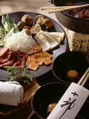 Sukiyaki; Japanese Fondue with Fillet of Beef