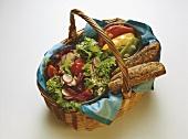 Picnic Basket: Salad & pickled Bell Pepper