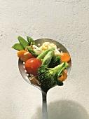 Skimmer Full of Spring Vegetables