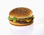 Cheeseburger on a Sesame Bun