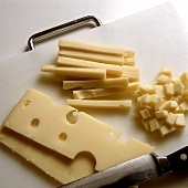 Piece of Emmenthal; Strips & Cubes