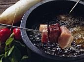 Veal Cubes; Salami Cubes; Bacon Cubes