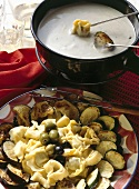 Gorgonzola Fondue with Tortellini