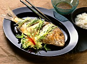 Steamed Ginger Fish with Rice