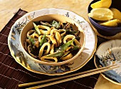 Calamares with Shiitake & Vegetables