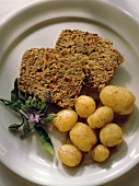 Cheese Meat Loaf with Potatoes