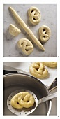 Making crispy salted pretzels