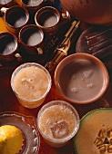 Cafe de olla; heiße Schokolade & Fruchtsaft