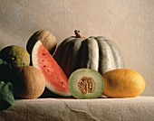 Still Life with Various Melons