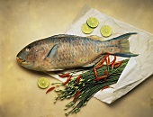 Parrot Fish; Lime Slices