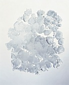 Crushed Ice; Blue Background